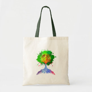 Rainbow Tree of Life Tote Bags
