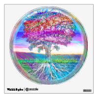 Rainbow Tree of Life Wall Decal