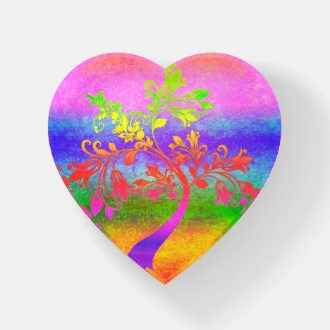 Rainbow tree paperweight