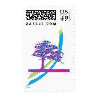 Rainbow Tree Postage Stamp