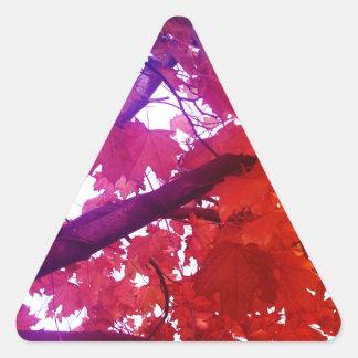 Rainbow tree triangle stickers