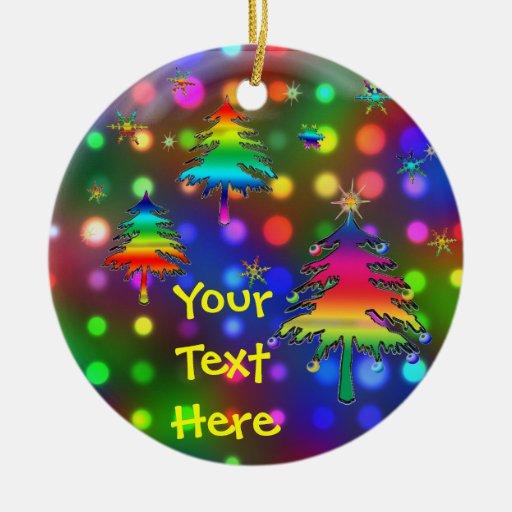 Rainbow Trees Ornament