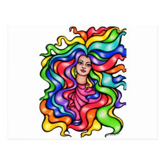 Rainbow Tresses Postcard