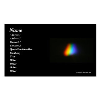 Rainbow Triangle Business Card Template