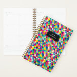 "Rainbow Triangle Custom Year and Name Planner<br><div class=""desc"">Start your year off on a the bright foot with this colorful pattern of triangles that span the spectrum of the rainbow. Don&#39;t forget to personalize the front with the year and name text of your choice!</div>"