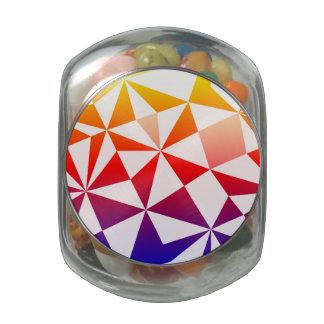 Rainbow Triangle Design Glass Jars