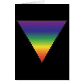 Rainbow Triangle Greeting Card - Black Background