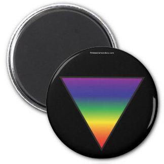 Rainbow Triangle Magnet - Black Background
