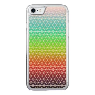 Rainbow Triangle Tessellation Geometric Pattern Carved iPhone 8/7 Case