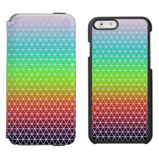 Rainbow Triangle Tessellation Geometric Pattern iPhone 6/6s Wallet Case