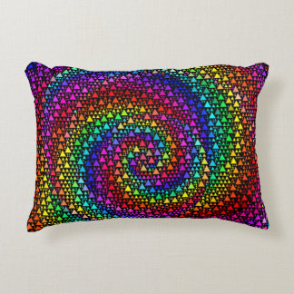 Rainbow Triangles Accent Pillow