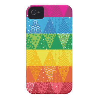 Rainbow Triangles iPhone 4 Case-Mate Case