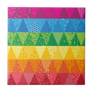 Rainbow Triangles Tile