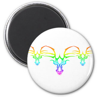 Rainbow Tribal 2 Inch Round Magnet