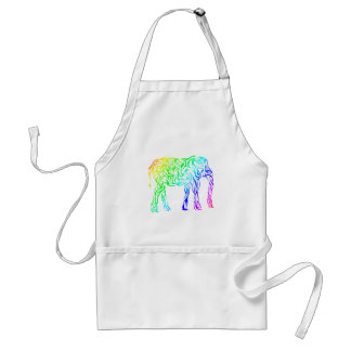 Rainbow Tribal Elephant Adult Apron