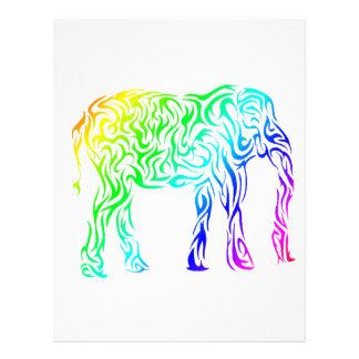 Rainbow Tribal Elephant Letterhead