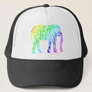 Rainbow Tribal Elephant Trucker Hat