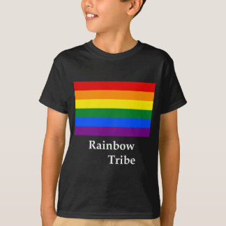Rainbow Tribe Flag And Name T-Shirt