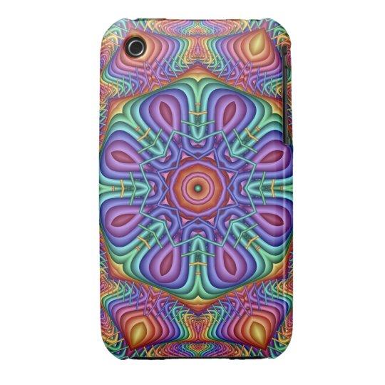 Rainbow tricks, fractal iPhone 3G/3GS Case