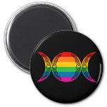 Rainbow Triple Goddess Symbol Refrigerator Magnets