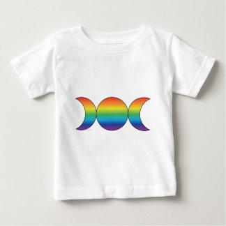 Rainbow Triple Moon Baby T-Shirt