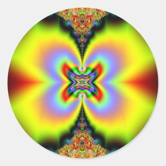 Rainbow Trippin Classic Round Sticker