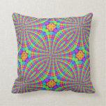 Rainbow Trippy Circles Pillow