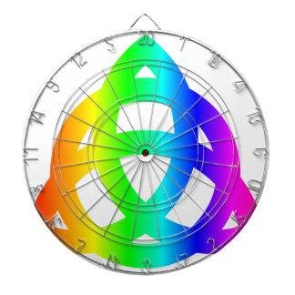Rainbow Triquetra Dart Boards