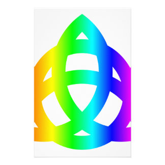 Rainbow Triquetra Stationery