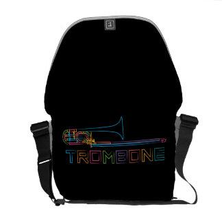 Rainbow Trombone Messenger Bag