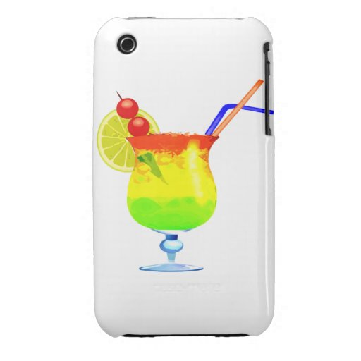 Rainbow Tropical Drink Case-Mate iPhone 3 Case