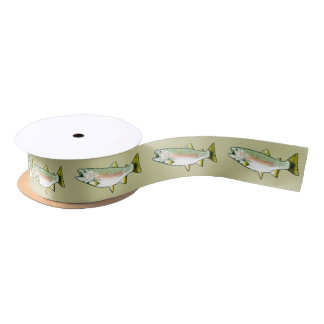 Rainbow Trout 1.5 Inches Satin Ribbon
