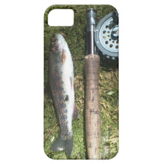 rainbow trout and fly fishing reel iPhone 5 case