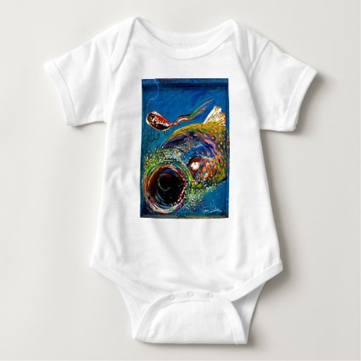 Rainbow Trout Art Baby Bodysuit