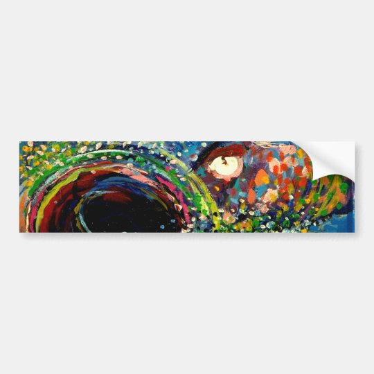 Rainbow Trout Art Bumper Sticker
