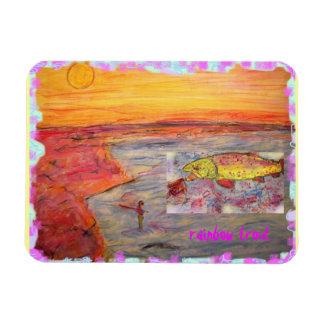 rainbow trout art magnet