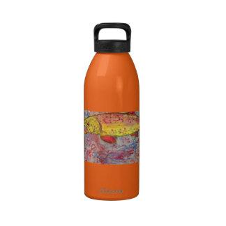 rainbow trout art reusable water bottle