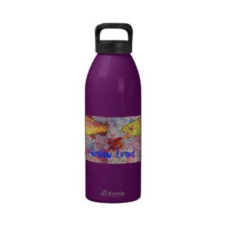 rainbow trout art reusable water bottles