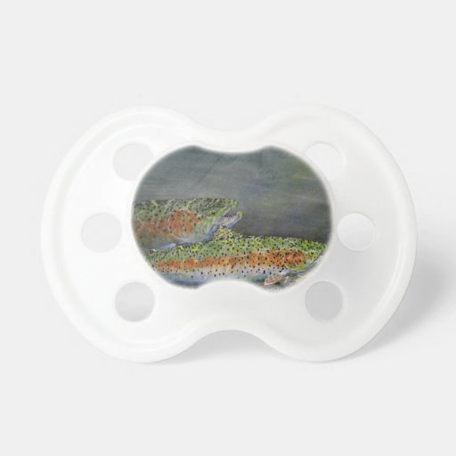 Rainbow trout BooginHead pacifier
