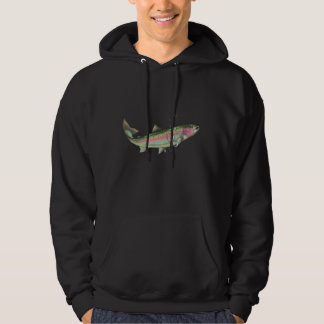 RAINBOW TROUT BUBBLES by SHARON SHARPE Hooded Sweatshirt