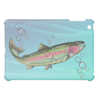 RAINBOW TROUT BUBBLES by SHARON SHARPE iPad Mini Covers