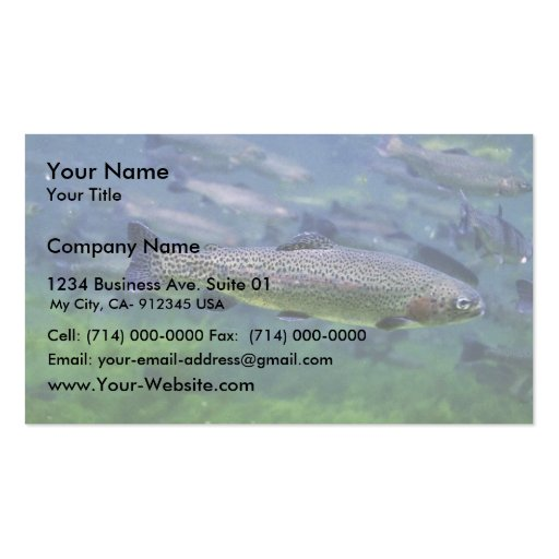Rainbow Trout Double-Sided Standard Business Cards (Pack Of 100)
