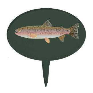 Rainbow Trout Cake Topper