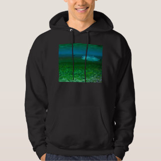 Rainbow Trout chasing a fly Hooded Pullover