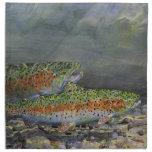 Rainbow trout cloth napkin