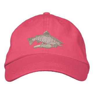 Rainbow Trout Embroidered Baseball Cap