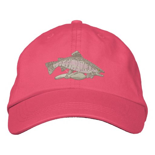 Rainbow Trout Embroidered Baseball Caps