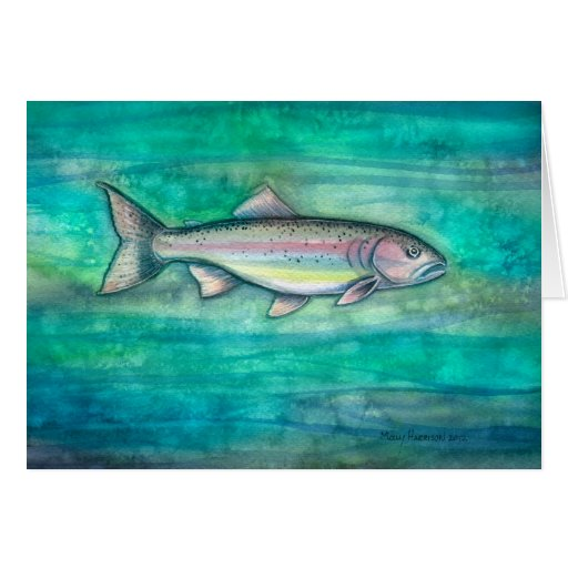 Rainbow Trout Father's Day Card