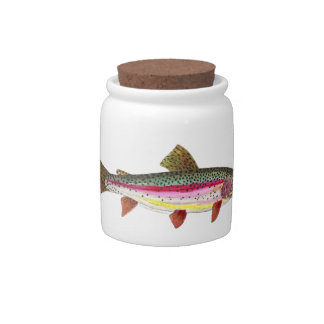 Rainbow Trout Fish Candy Dish
