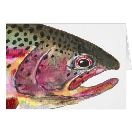 Rainbow Trout Fish Card